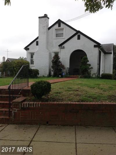Single Family Home For Sale: 6120 North Dakota Avenue NW