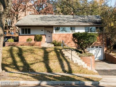 Washington Single Family Home For Sale: 4843 Linnean Avenue NW