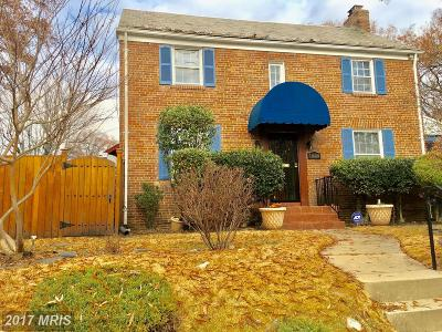 Washington Single Family Home For Sale: 1834 Upshur Street NE