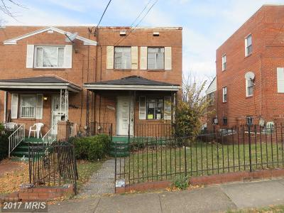 Washington DC Single Family Home For Sale: $187,200