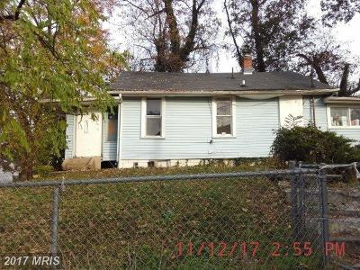 Washington DC Single Family Home For Sale: $149,000