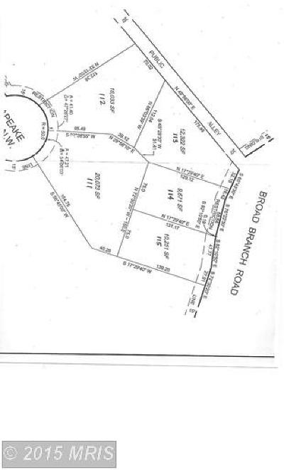 Residential Lots & Land For Sale: 4656 Broad Branch Road NW
