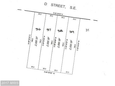 Residential Lots & Land For Sale: 5333 D Street SE