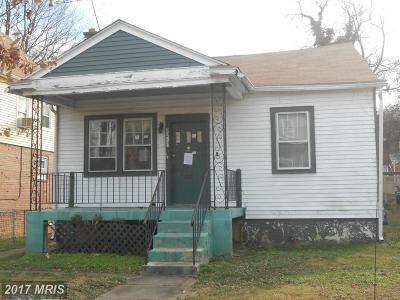 Washington Single Family Home For Sale: 2217 Rand Place NE