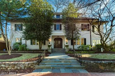 Cleveland Park Single Family Home For Sale: 3512 Lowell Street NW