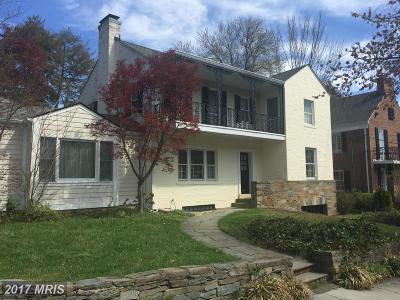 Washington Single Family Home For Sale: 4611 Kenmore Drive NW