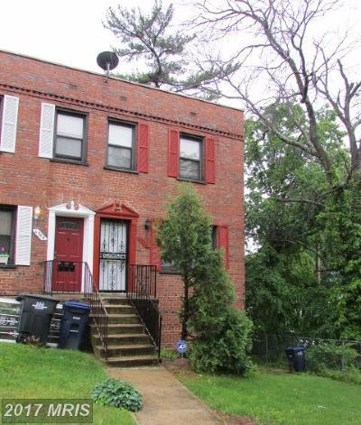 Washington DC Townhouse For Sale: $180,000