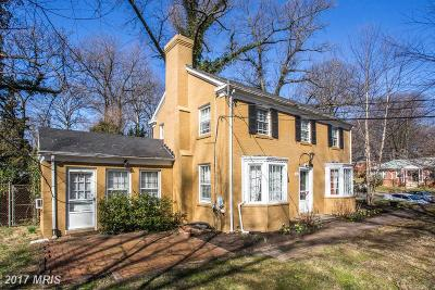 Single Family Home For Sale: 1910 Sudbury Road NW