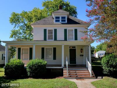 Cambridge MD Single Family Home For Sale: $159,900