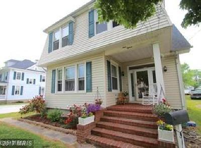 Cambridge MD Single Family Home For Sale: $124,900