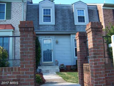 Fairfax Townhouse For Sale: 9736 Main Street