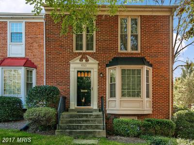 Fairfax Townhouse For Sale: 10513 Assembly Drive