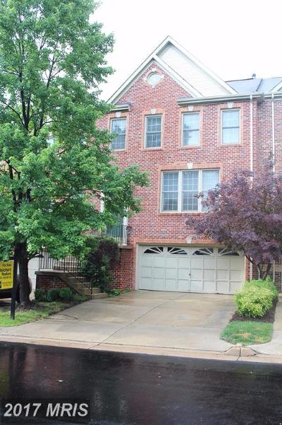 Fairfax Townhouse For Sale: 10432 Courtney Drive