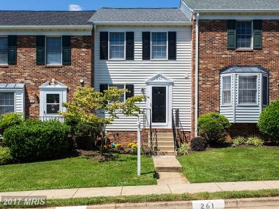 Fauquier Townhouse For Sale: 261 Fairfield Drive