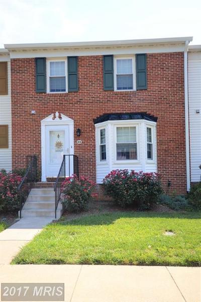 Warrenton Townhouse For Sale: 213 Fairfield Drive