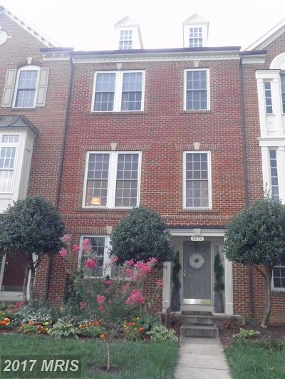 Frederick Townhouse For Sale: 3878 Carriage Hill Drive