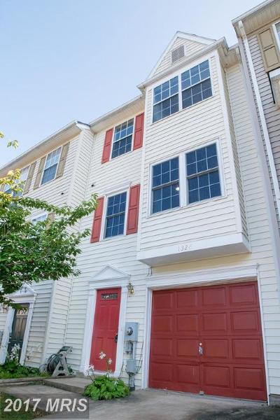Frederick Townhouse For Sale: 1326 Hampshire Drive #7C