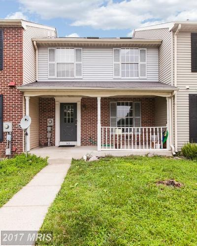 Frederick Townhouse For Sale: 513 Goldspire Circle