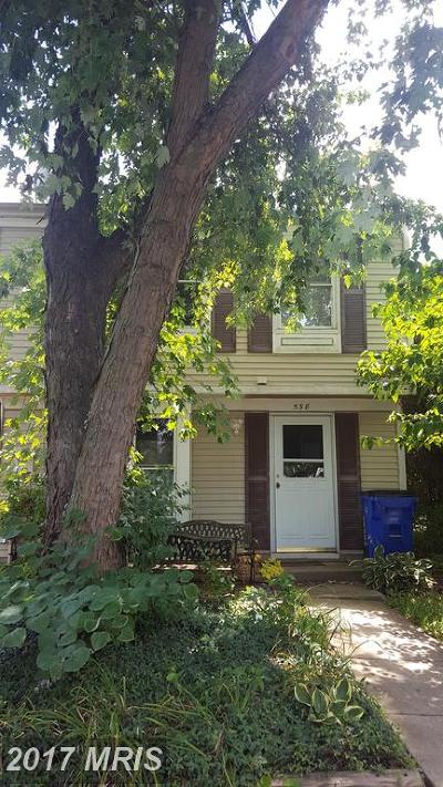 Frederick MD Townhouse For Sale: $155,000