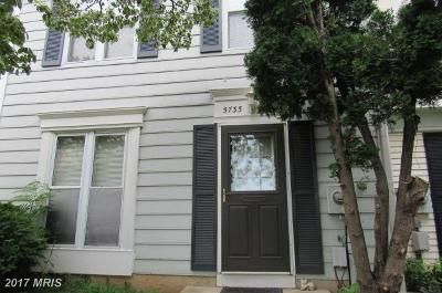 Frederick Townhouse For Sale: 5733 Sunset View Lane
