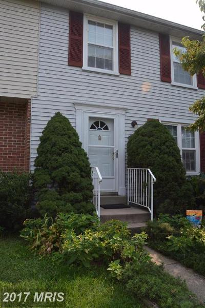 Frederick Townhouse For Sale: 1476 Mobley Court