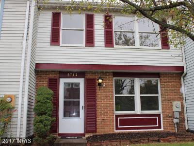 Frederick Townhouse For Sale: 6732 Fallow Hill Court