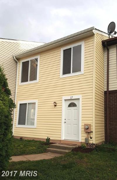 Frederick MD Townhouse For Sale: $190,000