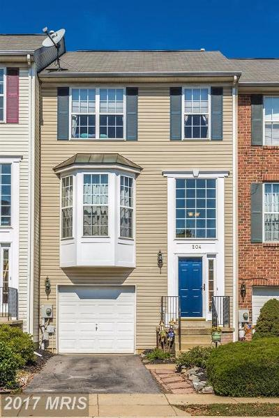Frederick Townhouse For Sale: 204 Harpers Way