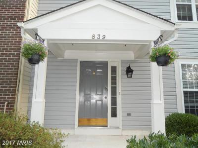Frederick Townhouse For Sale: 839 Waterford Drive
