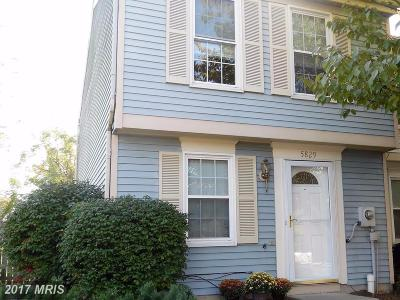 Frederick Townhouse For Sale: 5829 Drawbridge Court