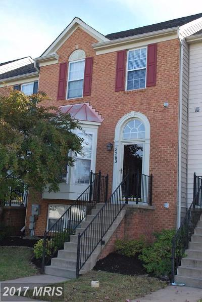 New Market Townhouse For Sale: 5763 Mussetter Court