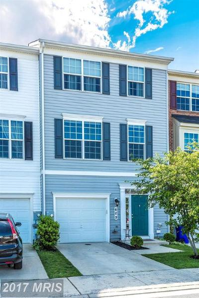 Frederick Townhouse For Sale: 609 Amberfield Road