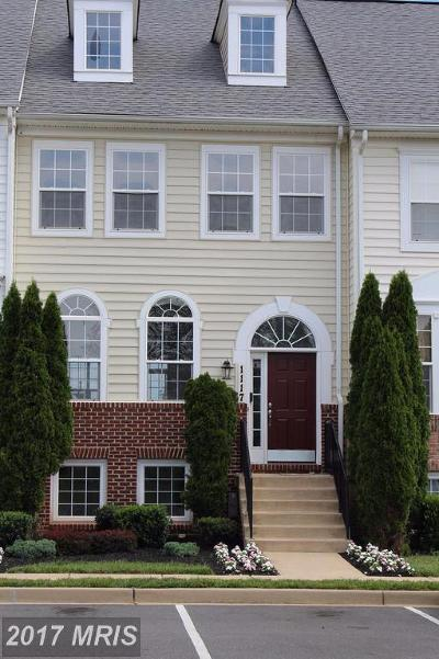 Frederick Townhouse For Sale: 1117 Spring Run Court
