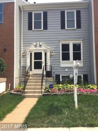 Alexandria Townhouse For Sale: 6012 Joust Lane