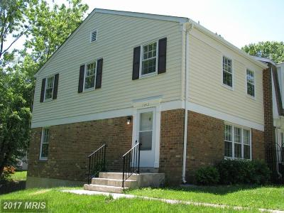 Springfield Townhouse For Sale: 7813 Groveland Square
