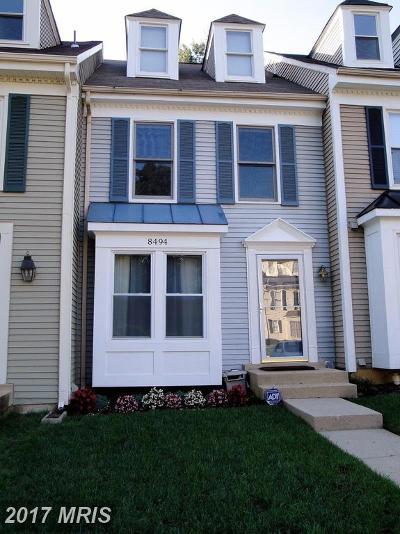 Springfield Townhouse For Sale: 8494 Laurel Oak Drive
