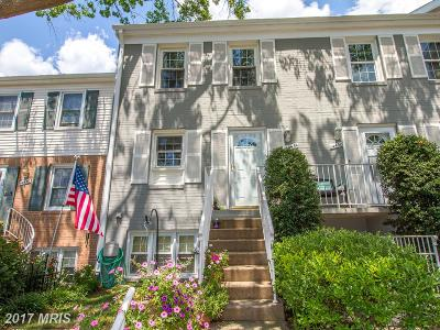 Centreville Townhouse For Sale: 14434 Cool Oak Lane