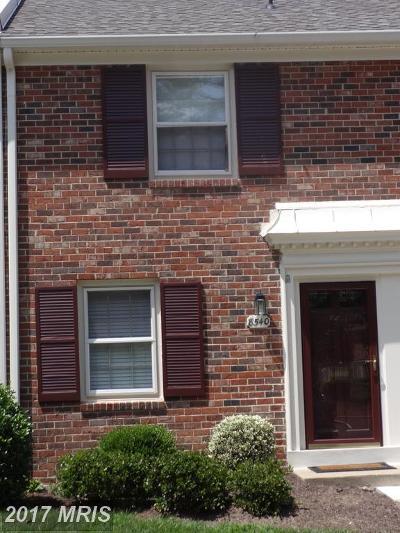 Springfield Townhouse For Sale: 8540 Barrington Court #933