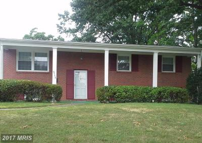 Single Family Home For Sale: 6712 Quander Road