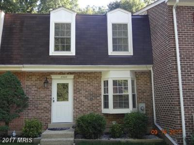Springfield Townhouse For Sale: 6446 Shannon Station Court