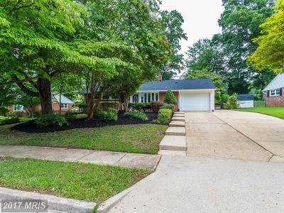 Springfield Single Family Home For Sale: 8016 Hatteras Lane