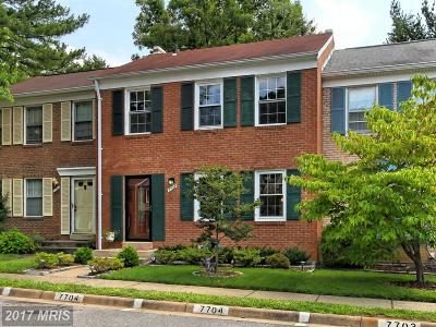 Springfield Townhouse For Sale: 7704 Durer Court