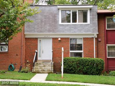 Springfield Townhouse For Sale: 8062 Tributary Court