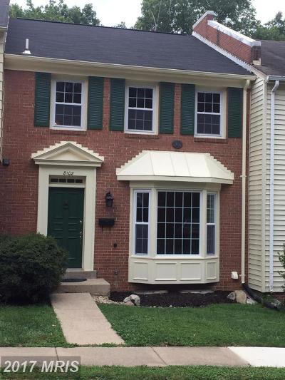 Springfield VA Townhouse For Sale: $410,000