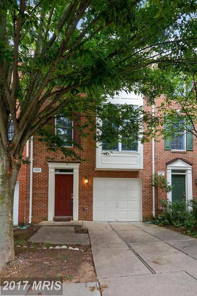 Fairfax Townhouse For Sale: 3939 Kathryn Jean Court