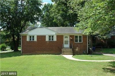 Falls Church VA Single Family Home For Sale: $594,900