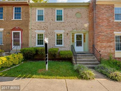 Lorton Townhouse For Sale: 9541 Saluda Court