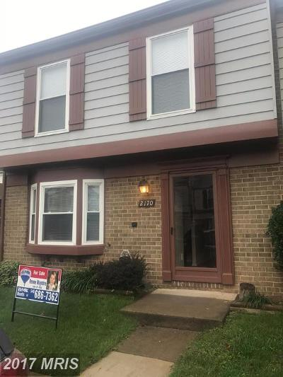 Herndon Townhouse For Sale: 2170 Monaghan Drive
