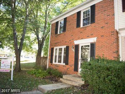Springfield Townhouse For Sale: 5411 Donnelly Court