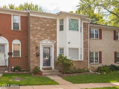 Springfield Townhouse For Sale: 9111 Galbreth Court